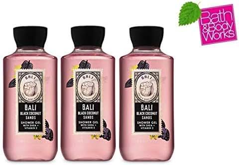 Bath and Body Works BALI BLACK COCONUT SANDS Gift Set - Shower Gel Lot of 3 - Full Size