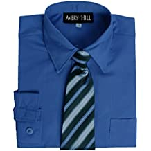 Avery Hill Boys Long Sleeve Dress Shirt with Windsor Tie