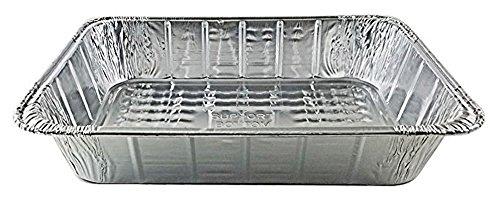 Handi-Foil 14 x 10 x 3 Deep Oblong Lasagna Casserole Aluminum Pan, 100 Pack by HSA (Image #1)