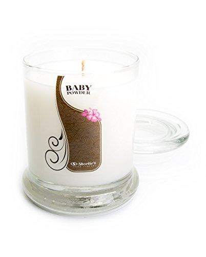 Baby Powder Highly Scented Candle (Baby Powder Candle - 10 Oz. Highly Scented White Jar Candle - Clean Candles Collection)