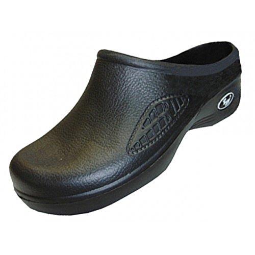 Zapatos Para Mujer Al Por Mayor De La Obstrucción, Zapatos De Las Mulas, Comodidad, Zapatos Para Caminar, Enfermera, Enfermeras, Luz De Enfermería, Zapatos Oscuros, Negros, Blancos Del Color Negro