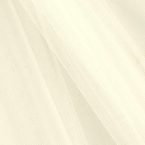 Falk Fabrics 0541956 54in Apparel Grade Tulle Light Ivory (Bolt, 50 Yard)