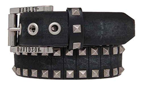 Diamond Concho Belt (Harley-Davidson Men's Road Rash Diamond Studs Leather Belt, HDMBT10845-BLK)