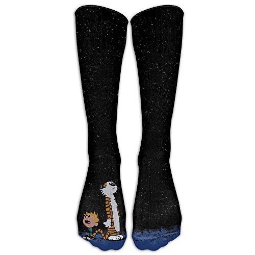 Calvin And Hobbes Costumes Ideas (Calvin And Hobbes Long Socks Knee Soccer Socks For Men And Women - Running & Fitness - Best Medical, Nursing, Travel & Flight Socks)