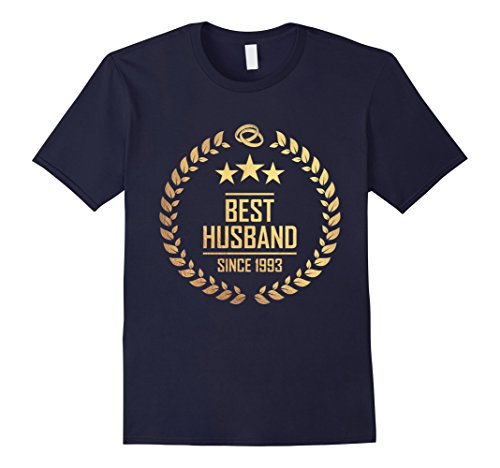 Mens best husband since 1993 - 25th anniversary gift XL Navy
