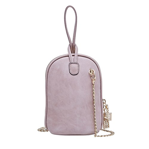 Price comparison product image BOYATU Women's Clutch Bag Genuine Leather Mini Handbag Wallet Purse for Ladies(Pink)