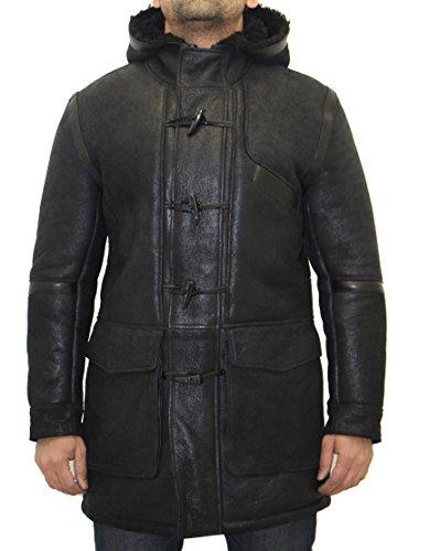 contract Mans Small e Black With D Duffle R el Coat Hood Fur de Sheep Poisu sime Mill Classic PpxrqPH