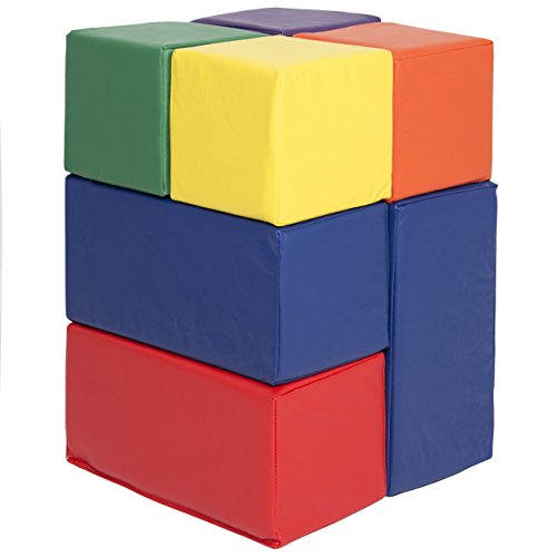 Best Choice Products 7 Piece Soft Big Foam Blocks Play Set