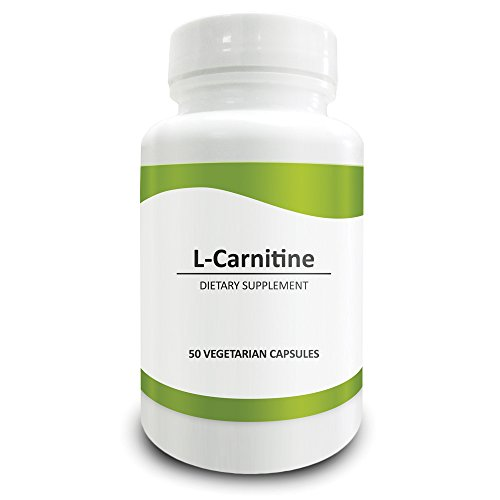 Pure Science L Carnitine (L Tartrate) 500mg – Supports Weight Loss, Optimizes Cellular Energy & Antioxidant Levels, Promotes Cognition – 50 Vegetarian Capsules of L Carnitine Powder