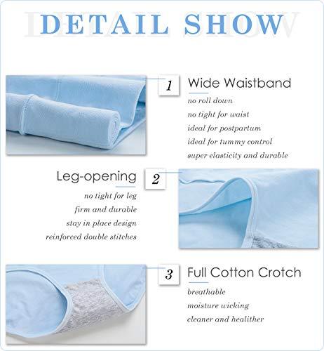 8355dd9d83658 Innersy Women Tummy Control Underwear Postpartum High Waisted Slimming  Panties 5 Pack