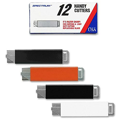 Pacific Handy Cutter : Handy Box Cutter, Tap Open/Tap Close, 12/BX, Assorted Colors -:- Sold as 2 Packs of - 12 - / - Total of 24 Each (Large Handy Cutter)