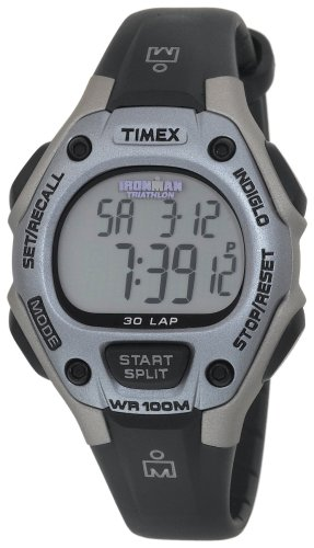 Timex Women's Ironman 30-Lap Digital Quartz Mid-Size Watch, Lilac - T5E971