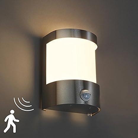 QAZQA Moderno Aplique MIRA RVS sensor de movimiento Vidrio/Acero inoxidable Esfera Adecuado para LED