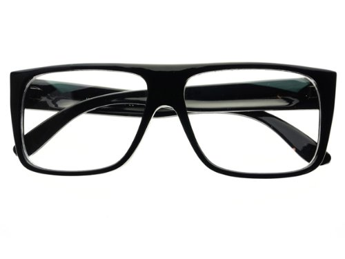 New Retro Style Clear Lens Square Flat Top Eye Glasses Frames - Frame Store Dc