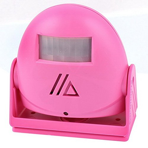 Rotary Head Infrared Sensor Greeting Warning Welcome Doorbell Pink by Ugtell (Rotary Doorbell)