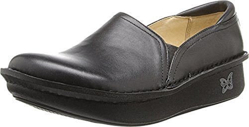 Alegria Womens debra Slip-On Black Nappa