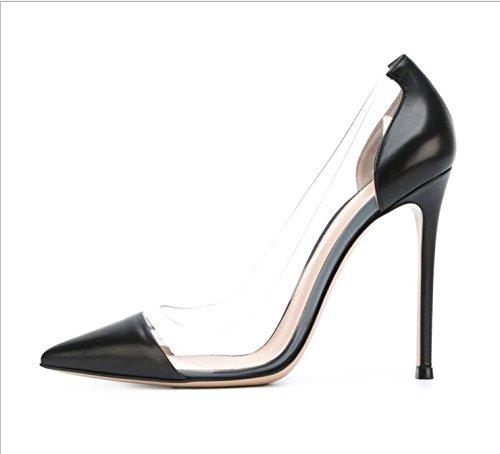 Ruanlei Scarpe eleganti alto Medio donna High Scarpe Scarpe con Lavoro tacco for ScarpeWild Eleganti black Wedding Heels a Tacco ed Lavoro rrq6TUn