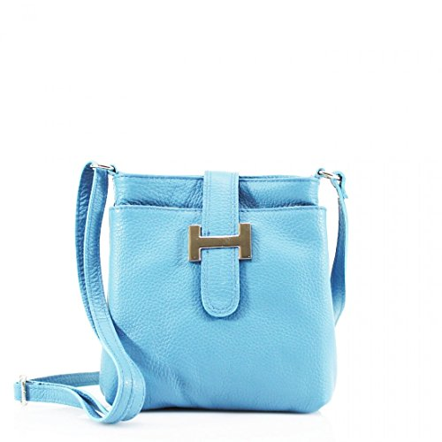 Women's Messenger GREEN Bags Women Light Small LeahWard Holiday Body Leather Real Handbag For Blue Cross nYBSBwdq1