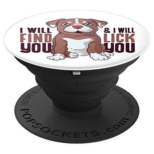 Funny Pit Bull Puppy Cute Design - PopSockets Grip and Stand for Phones and Tablets