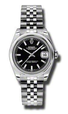 Rolex Datejust Nero Quadrante Automatico In Acciaio Inox Orologio Da