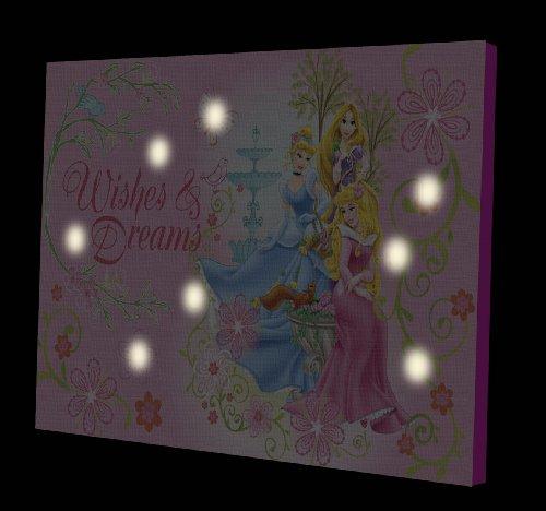 Disney Princess LED Light Up Canvas Wall Art