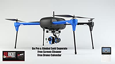 3D Robotics Iris+ Plus Multicopter 915 Mhz 3DR Aerial Photography Quad Copter Value Bundle Free Drone Calendar and Smartphone Screen Cleaner (Gimbal and GoPro Not Included and sold Separate)