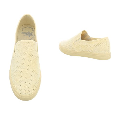 Sneakers 92 Mode Plat Femme Jaune G Baskets Low Espadrilles Ital design Chaussures xPUqwnWOY4