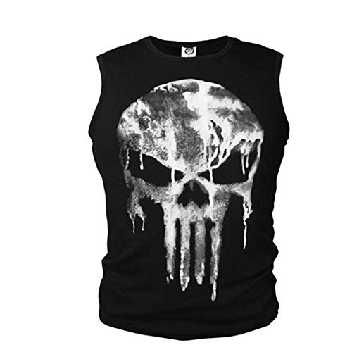 New Mens Cotton Vest Punisher Sleeveless Singlet Halloween for sale  Delivered anywhere in Canada