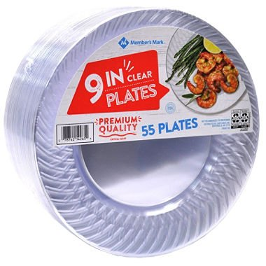 Daily Chef Big Party Pack - Clear Plastic Plates, 9 Inch, 100 Count by Daily Chef (Image #1)