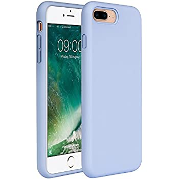 """Miracase iPhone 8 Plus Silicone Case, iPhone 7 Plus Silicone Case Gel Rubber Full Body Protection Shockproof Cover Case Drop Protection for Apple iPhone 7 Plus/iPhone 8 Plus(5.5"""")-Clove Purple"""
