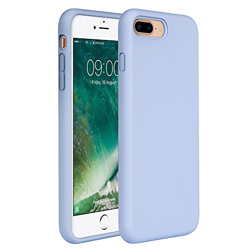 Miracase iPhone 8 Plus Silicone Case, iPhone 7 Plus Silicone Case Gel Rubber Full Body Protection Shockproof Cover Case Drop Protection for Apple iPhone 7 Plus/iPhone 8 Plus(5.5″)-Clove Purple