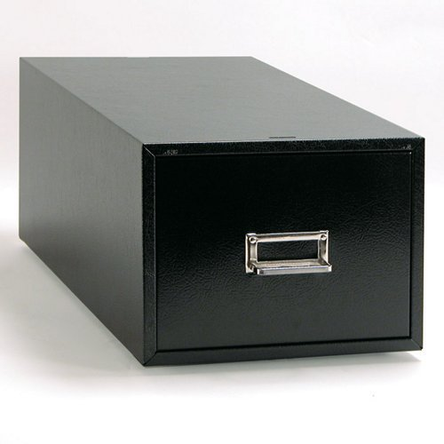 Buddy Products 1 Drawer Card File, Steel, 6 x 9 Inches, Black (1369-4) by Buddy Products