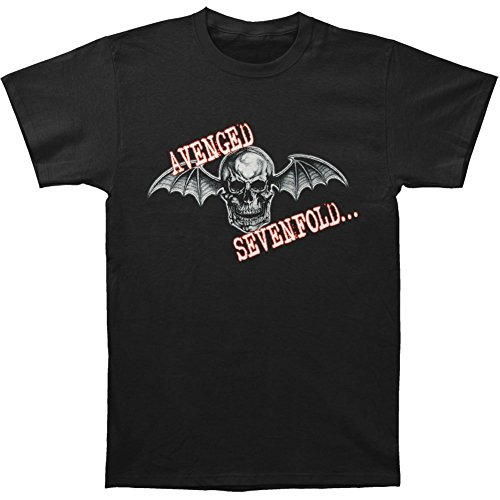 Avenged Sevenfold Wings (Avenged Sevenfold Men's Skull Wings T-shirt X-Large Black)