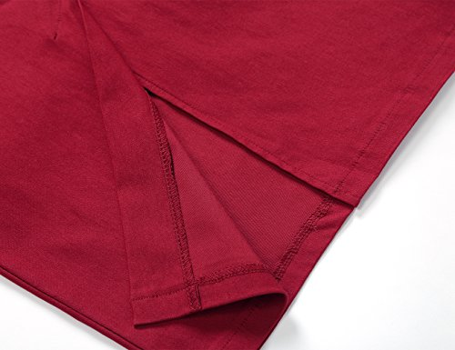 Cocktail Up Femme Pin Jupe Mariage De Robe MUXXN Burgundy Robe Crayon Vintage qwZt4TT