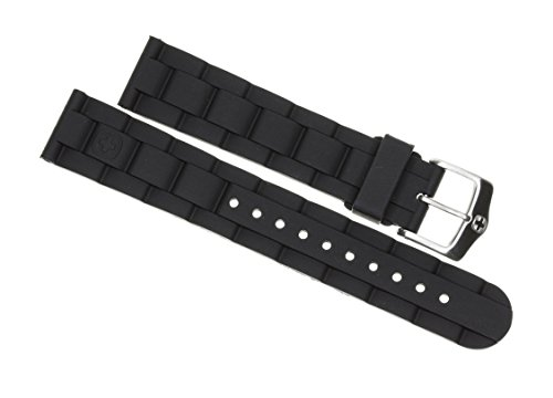 Diver Wenger Swiss Watch - New 20mm Wenger Swiss Army Genuine Rubber Strap Black Diver Watch Band 20 mm