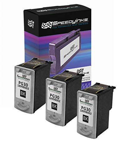 Speedy Inks Remanufactured Ink Cartridge Replacement for Canon PG30 (Pigment Black, 3-Pack)