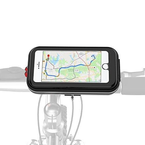 Handlebar Bag Mount (Carkoci Bike phone bag, bicycle phone mount waterproof handlebar for 5.7 inch phone, Iphone X,8p,8,7p,7,6p,6 with Sensitive Touch Screen (black))
