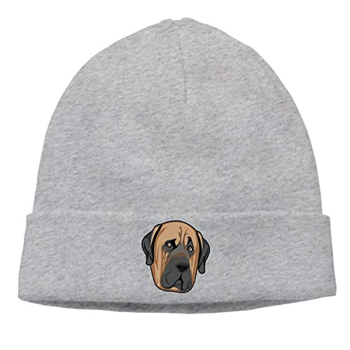 BLACKY Side Eye Pug Outdoor Unisex Winter Twist Pattern Hat Knitted Hats Sports Caps