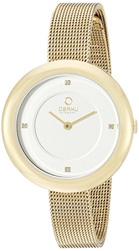 Obaku Women's V162LXGIMG Analog Display Analog Quartz Gold Watch