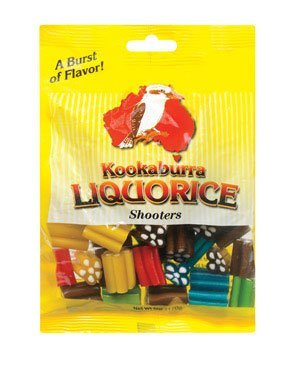 - Kookaburra Liquorice Colorful Liquorice Shooters Bag 6 oz