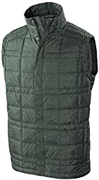 Sierra Designs Men\'s Dridown Vest, Dark Green Heather, X-Large
