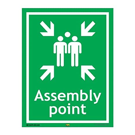 Mr. Safe   Assembly Point Sign SUNBOARD A3  11.7 inch X 16.5 inch  Safety Signs   Signals