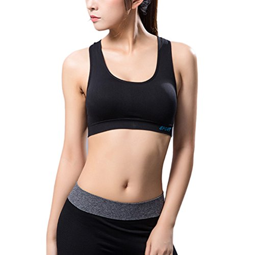 Zhhlaixing Women Sports Bra for Running Gym Yoga Shakeproof Sportswear Push Up Seamless Underwear with Padding Tops Bras Black