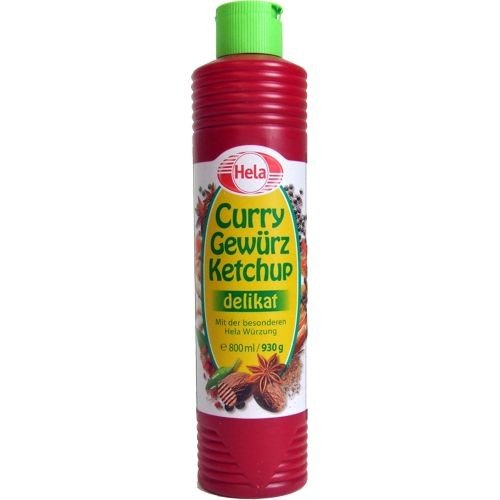 Price comparison product image Delicious German Hela Curry Gewurz Delicate Ketchup - Mild (800 ml) / perfect with meat,  sausages,  fish,  fries,  pasta and rice
