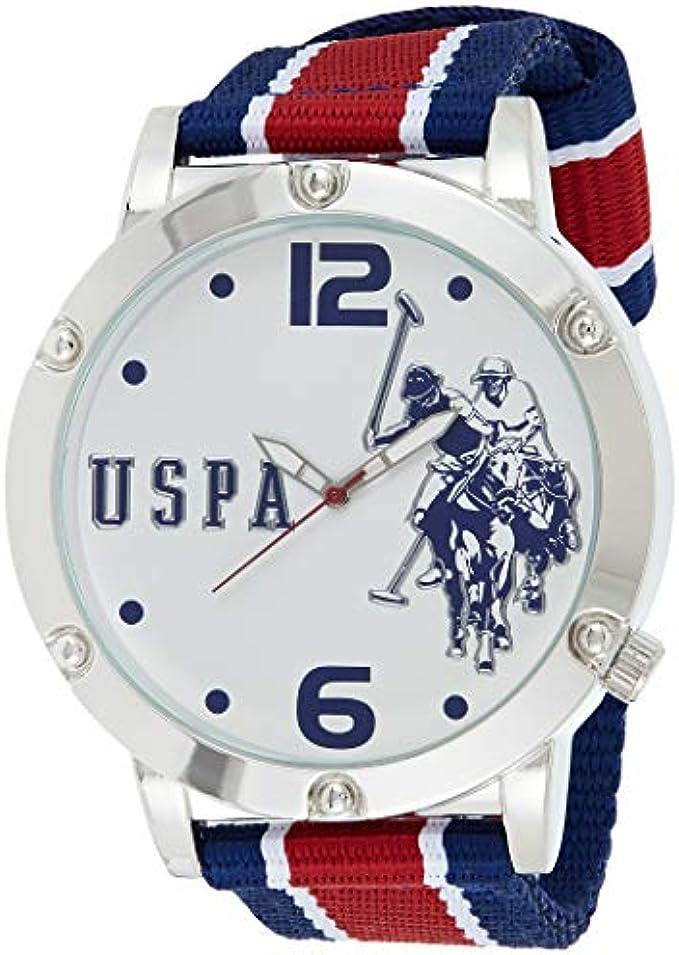 U.S. Polo Assn. Men's Quartz Metal and Nylon Casual WatchMulti Color (Model: USC57003)