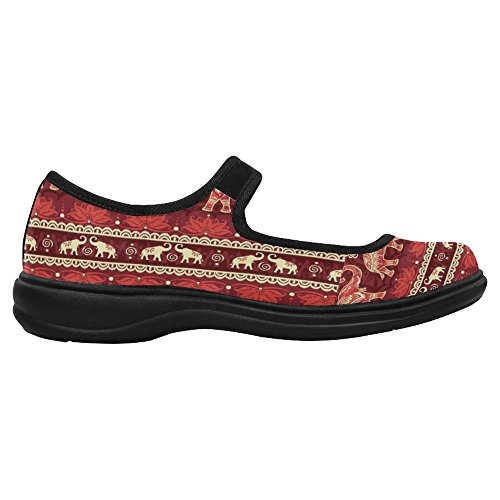 InterestPrint Womens Comfort Mary Jane Flats Casual Walking Shoes Multi 2 ZaQGhW