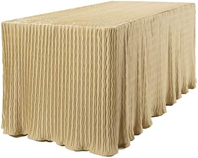 6 Foot Folding Table Cloth Gold 30x72x29