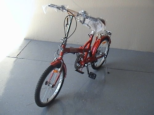 Folding Bike 20 Inchces Color RED by BESTCO PRODUCTS (Image #2)