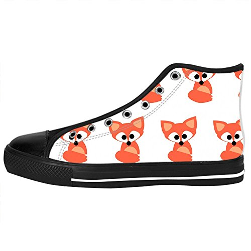 Dalliy Custom Fox Womens Canvas Shoes Schuhe Lace-Up High-Top Footwear Sneakers A
