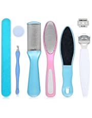 ICYCHEER 8 in 1 Feet Care Tools Pedicure kit Set Pedicure Rasp Foot File Callus Remover for Dead, Hard Skin, Cracked Heels, Dry Feet, Great Foot Care Tools for Women Men